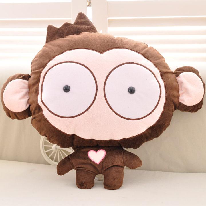 【可爱表情猴子抱枕被子】【送男朋友