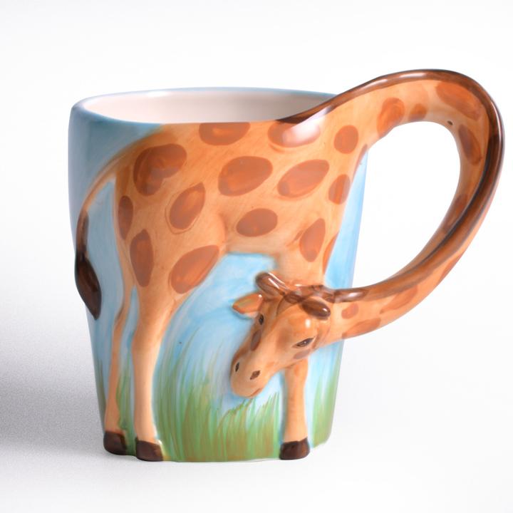 彩绘陶瓷动物图案创意个性陶瓷马克杯