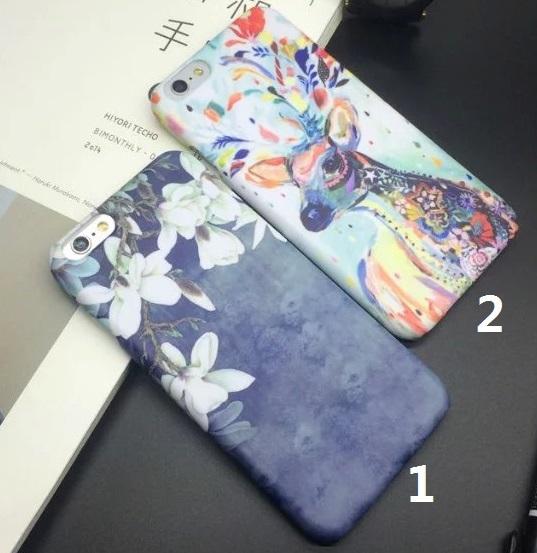 玉兰花水粉画麋鹿iphone6/6plus/6s/6splus手机壳