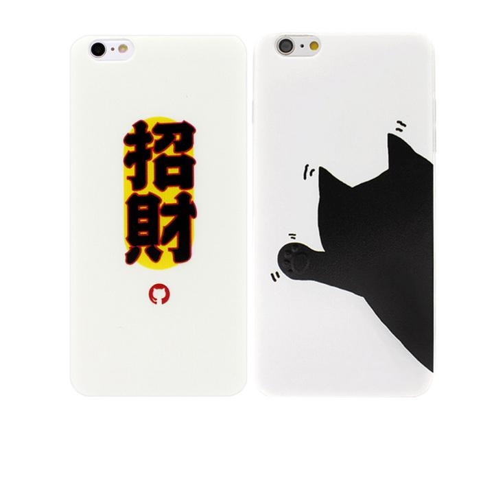 招财猫标志浮雕文字全包软手机壳
