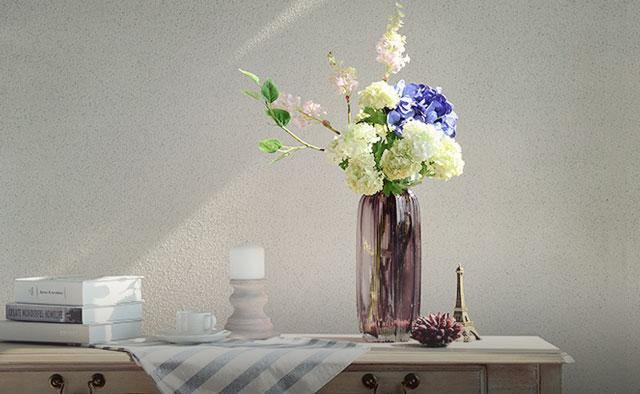 欧式文艺复古玻璃花瓶 欧式复古蓝调花瓶,水晶剔透,质感厚重,非常精美