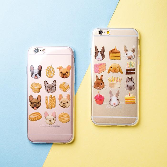 【卡通小动物超薄iphone手机壳】【送男朋友