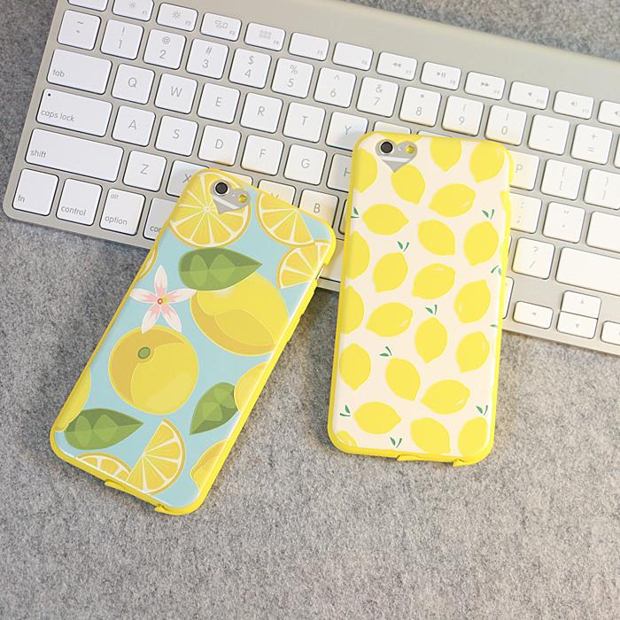 文艺清新柠檬插画手机壳