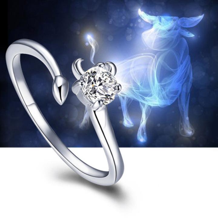 十二星座专属幸运开口戒指